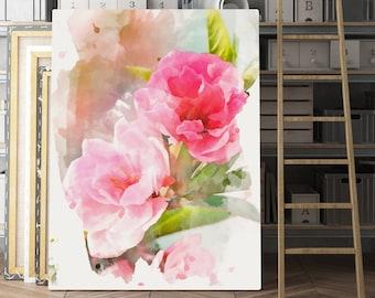 Peony Wall Art, flower art print, flower wall art, flower print, flower painting, watercolor flowers painting, garden painting, peony art