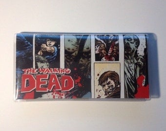 Walking Dead Checkbook cover - Walking Dead Comics Wallet
