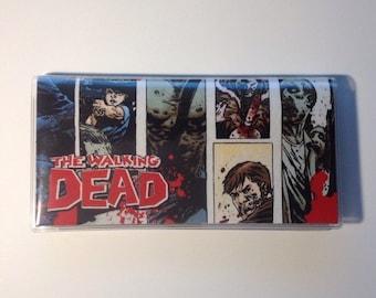 Walking Dead Checkbook cover - Walking Dead Comics Wallet