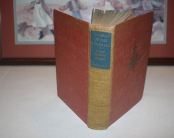 Admiral of the Ocean Sea - A Life of Christopher Columbus with fold-out maps - Columbus biography - 1942 - America - Patriotic Book
