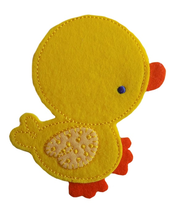Especially Baby Large Yellow Duck Embroidered Iron On