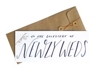 Letterpress Newlyweds Flat Card