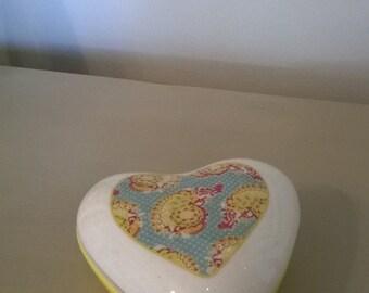 Ceramic Heart Keepsake Box