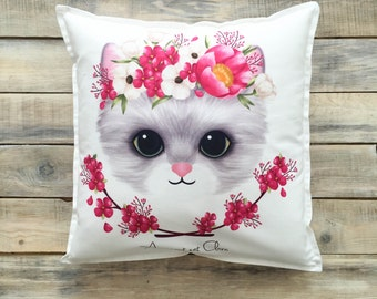 READY TO SHIP! Cute Kitten pillow