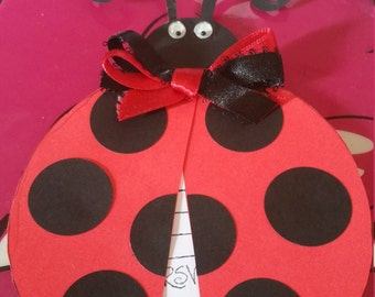 Really cute handmade lady bug birthday invitations set of 10.