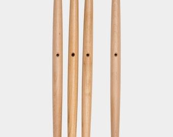 Dowel Legs Maple for Eames Herman Miller Fiberglass chairs Set of Four