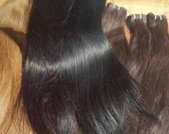 Black Hair, human hair extensions, Remy hair, European silky hair,