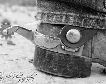 Western Photography, Cowboy Boot Photography,  Photography Print, Rustic, Ranch Decor, Country Photography