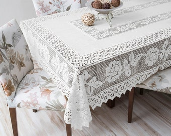 Lace Table Cloth 59'' x 86''