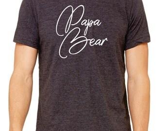 Papa Bear Shirt, Papa Bear dad shirt, Daddy Shirt, Daddy to Be Shirt, New Daddy Shirt, Dad Shirt, Pregnancy Reveal Shirt, Husband Gift,