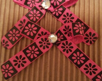 Small hairbow Pack of 4