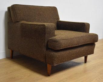 Brown Club Lounge Chair