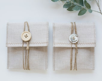 Linen USB Packaging Pouch - Light Cream