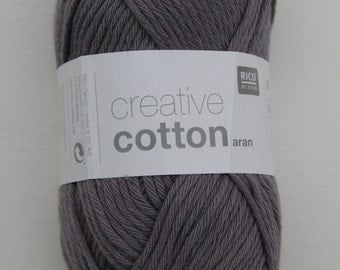 Rico Creative Cotton Aran Mouse Grey 028