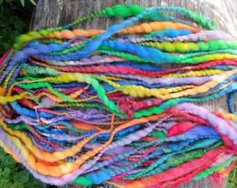 Handspun wool art yarn - Fairytale