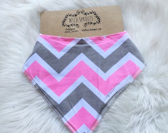 Pink and gray chevron