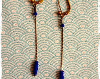 """""""Majorelle"""" earrings"""
