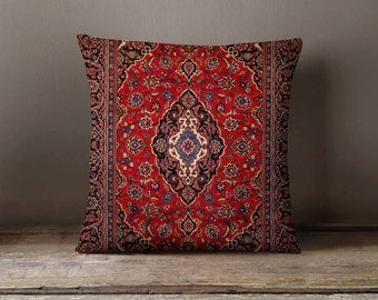 Persian Carpet Pillow Case Decorative Throw Pillow Cover Cushion Case Home Decor Birthday Gift Idea For Him & Her Arabic Gifts Pillow Sham