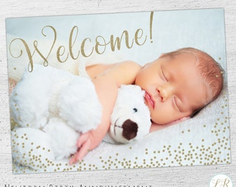 Newborn Announcement Template Photoshop Template New Baby