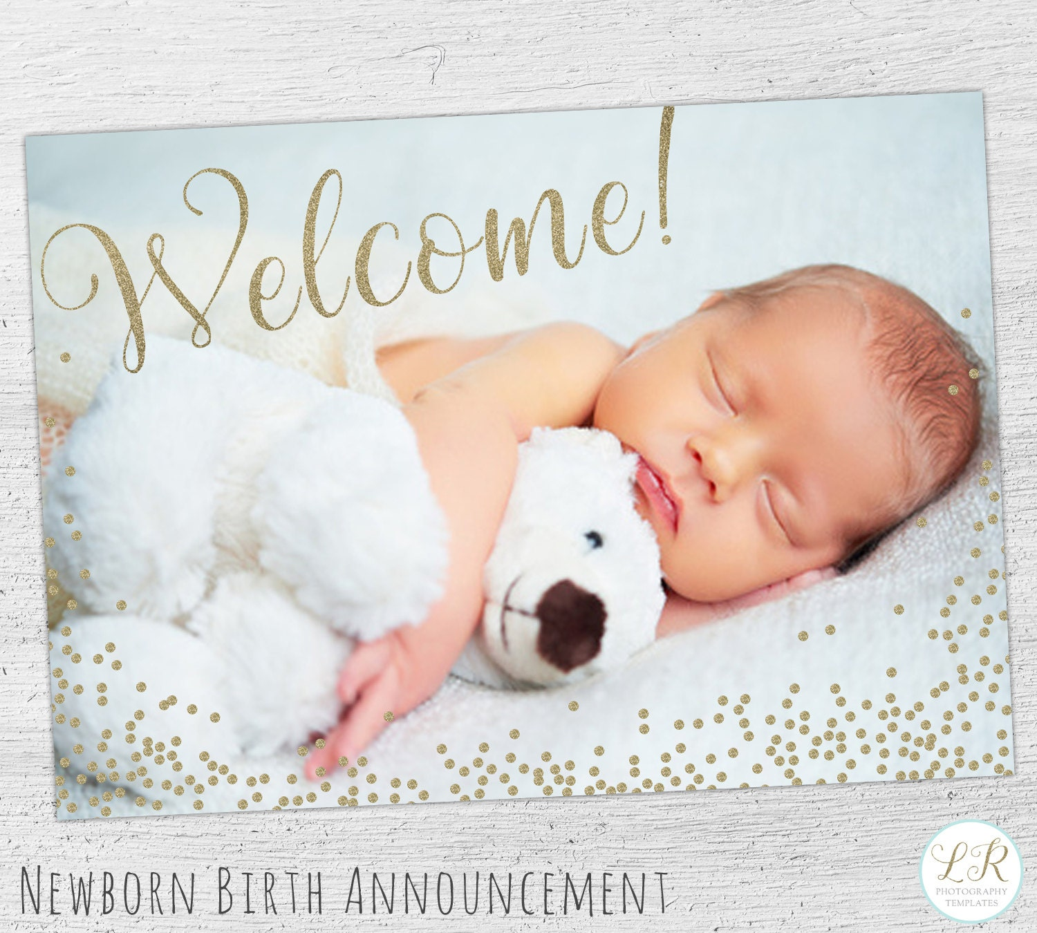 birth announcement template newborn announcement birth. Black Bedroom Furniture Sets. Home Design Ideas
