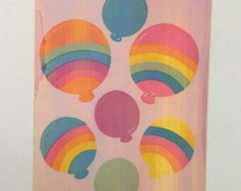 Vintage Sandylion Pearl Rainbow Balloons Maxi Sheet