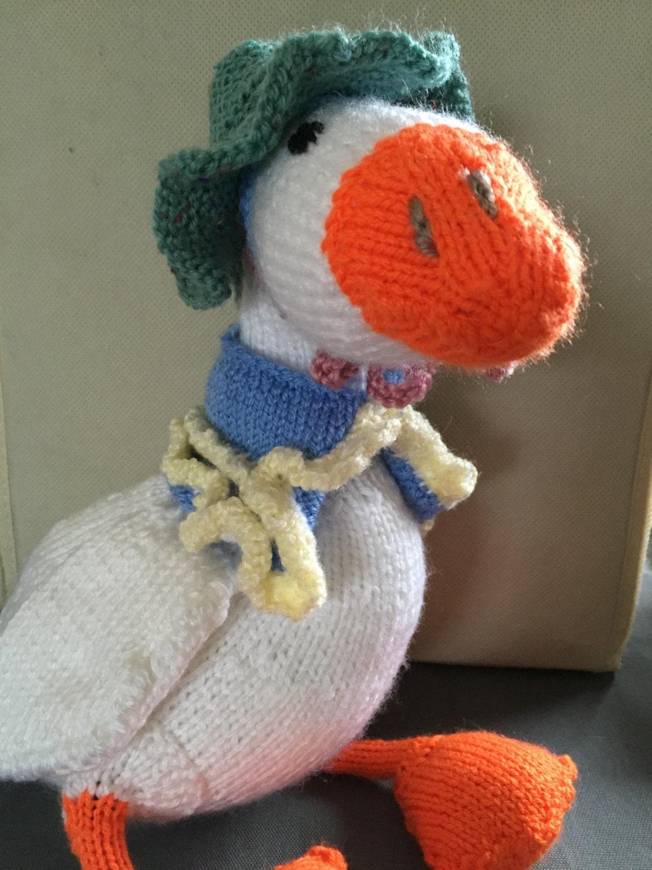 Jemima Puddle Duck Knitting Pattern : Jemima Puddleduck Beatrice Potter knitted toy by NotJustNanasKnit