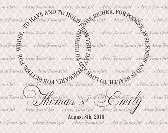 Wedding Vows To Have and To Hold Interlocking Rings SVG Instant Download