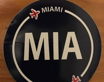 MIA Miami airport stickers