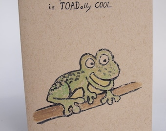 Greeting Card - Toadaly cool