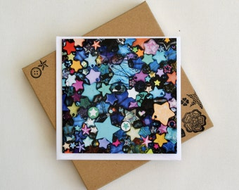 Starry Eyed Notecards - Box of 6 - Celestial star print