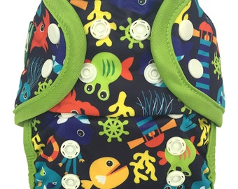 Fish Swim diaper