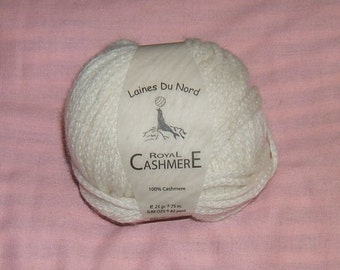 100% ROYAL CASHMERE Laines Du Nord 25G BEAUTIFUL!!