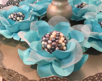 "100 Luxury Silk / Satin / Burlap Rose Flowers - ""CANDY CUPS"" for Chocolate Truffles  Wedding Dessert Table or Chocolate Bar Display"