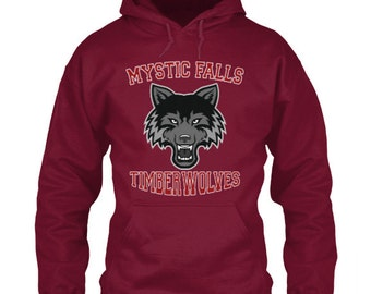 Mystic Falls Timberwolves Hoodie Vampire Diaries Inspired Design Mystic Falls High School Virginia