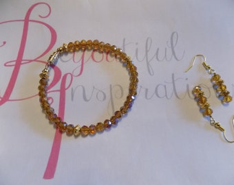Topaz Bracelet with Earring set