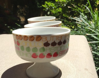 Retro Ice Cream Dish, Set of 3, The Toscany Collection, Japan
