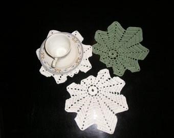 6 crochet coasters