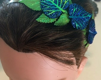 SALE Bright Blue and Green Headband