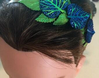 SALE Bright Blue and Green Headband