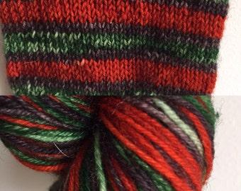 90 grams, Rowan tree, self striping sock yarn
