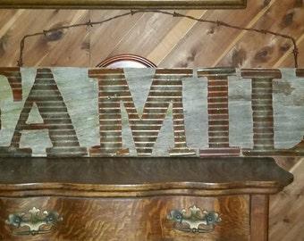 Vintage Corrugated Metal on 100 yr. old Barnwood