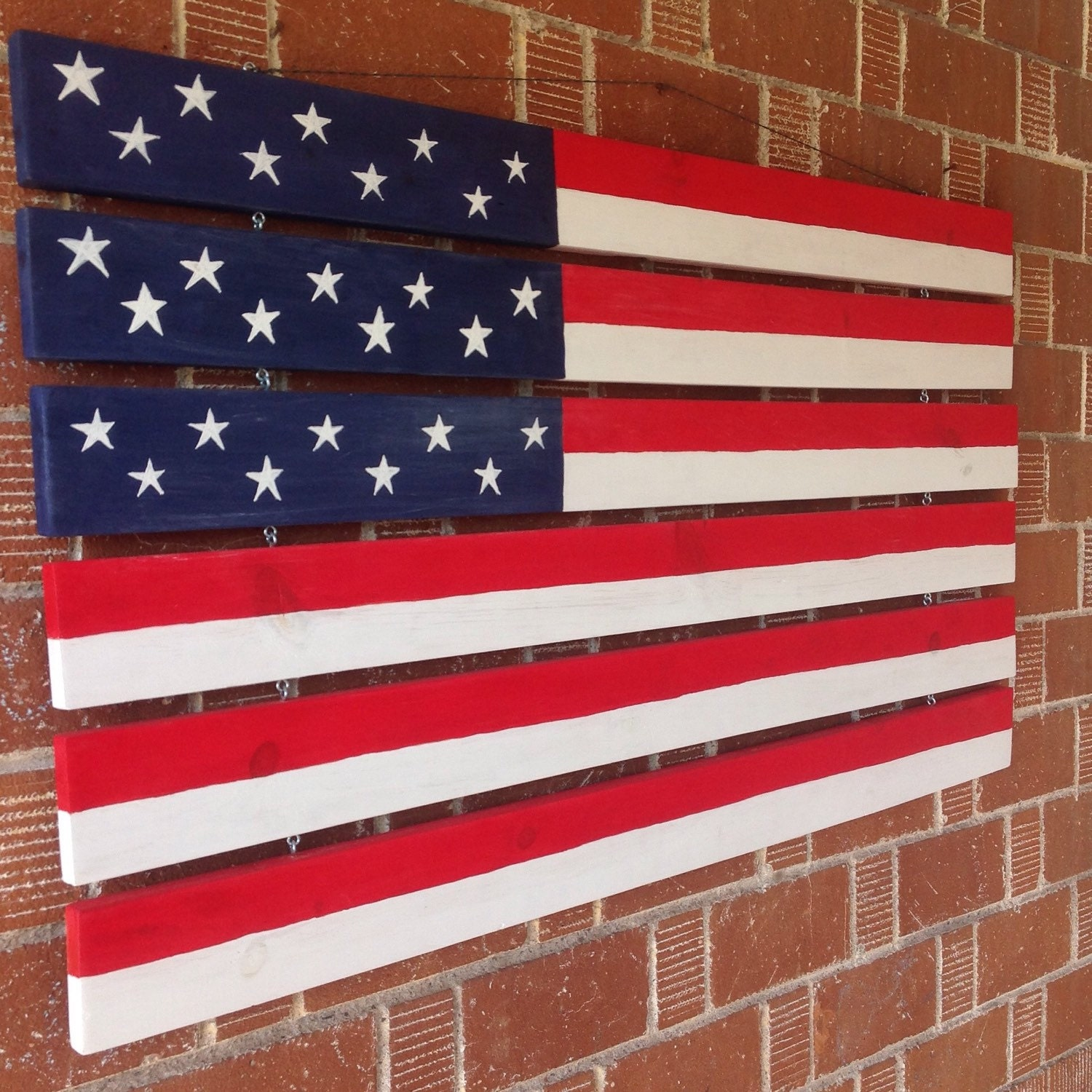 Large american flag home decor hand painted american flag for American flag decoration