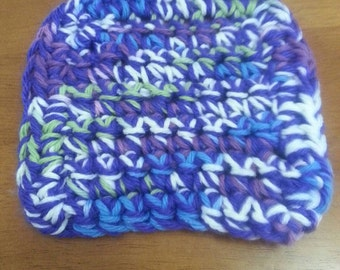 Handmade Cotton Dish Scrubby purple/blue/green/white