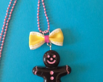 necklace Chocolate little man
