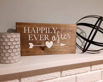 Happily Ever After Sign,  Rustic Wedding Sign, Wedding Gift, Wood Sign, Wedding Signs