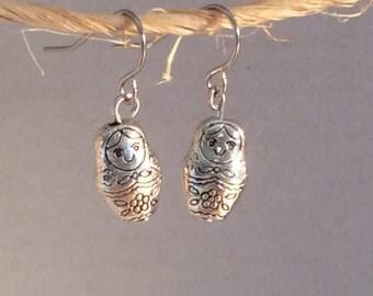 Russian doll earrings