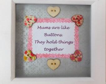"A Beautiful handmade Mum Box Frame 7"" x 7"""