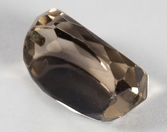 Natural Smoky Quartz, Faceted Bead, 8.72ct