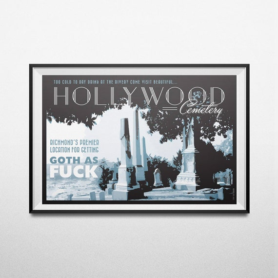 Hollywood Cemetery Tourism Poster Richmond Original Art