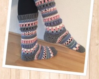 crochet freestyle sock pattern (Engl)